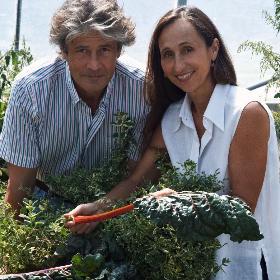 Eveline und Mario Bach mit Gemüse
