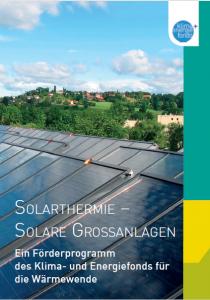 Solare Großanlagen Broschüre Cover