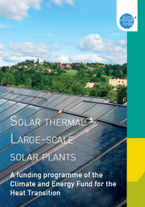 Solar Thermal Large-Scale Solar Plants brochure cover