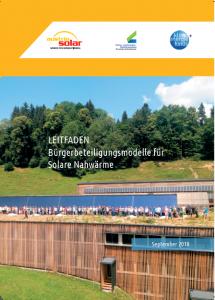 Cover Leitfaden Bürgerbeteiligungsmodelle für solare Nahwärme