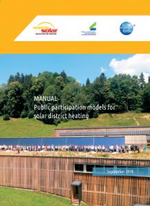 Cover Leitfaden Bürgerbeteiligungsmodelle für solare Nahwärme englisch