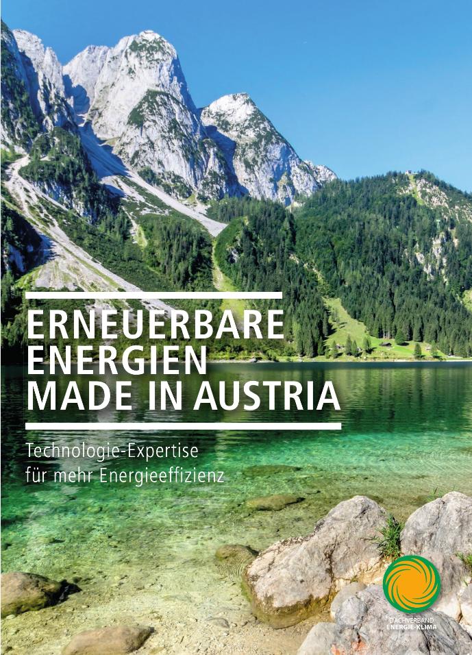 Cover Broschüre Erneuerbare Energien DVEK Berge Seen