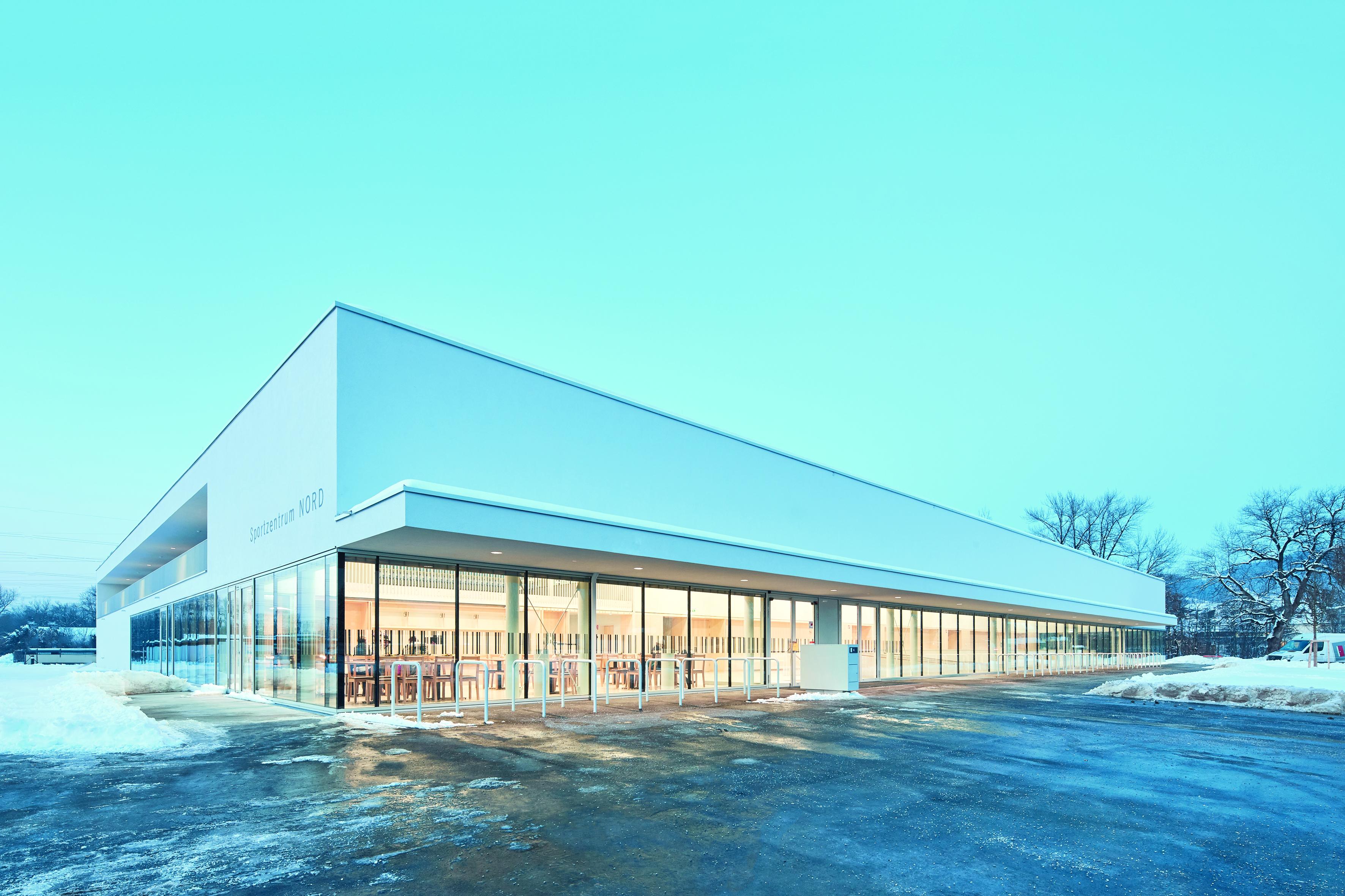 Sportzentrum Nord Liefering Salzburg Schnee Winter