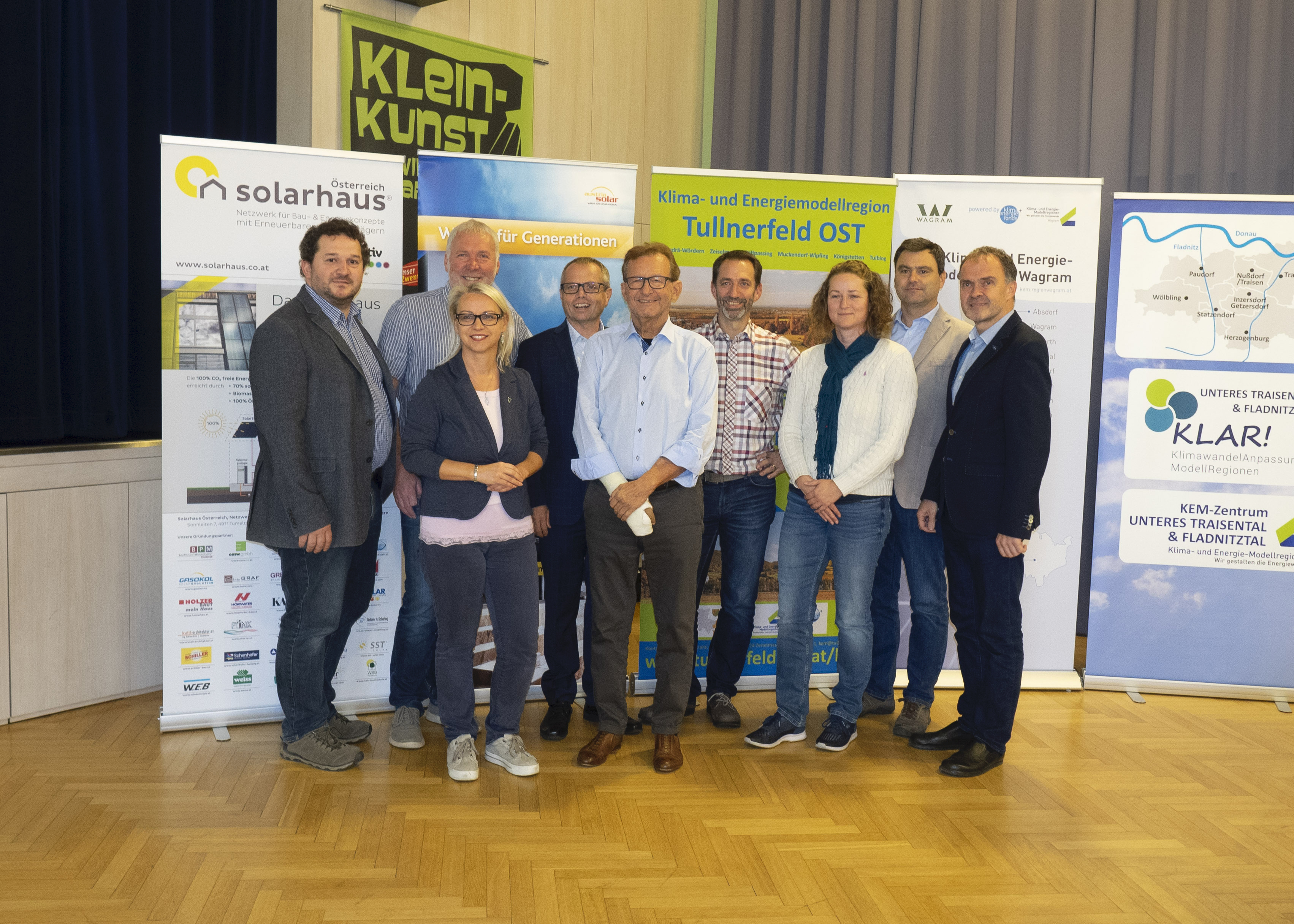 Frau Bürgermeister Marion Török eröffnete das Vernetzungstreffen der vier KEM-Regionen mit Solarhaus Östereich