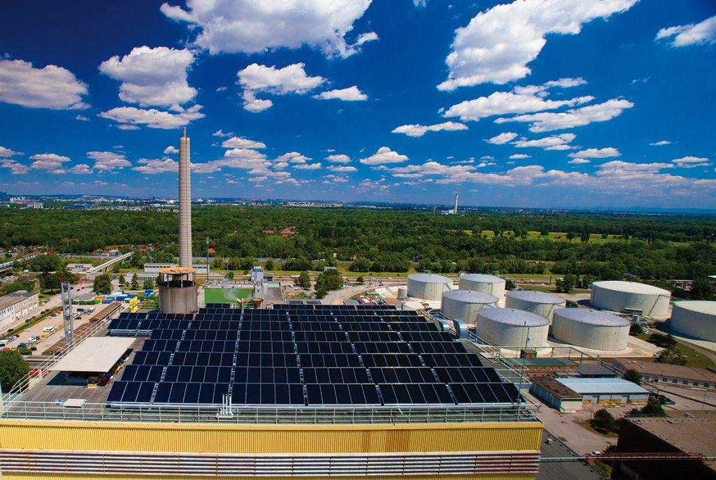 Solare Großanlage Simmering Wien Energie